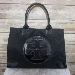 Tory Burch Ella Large Black Tote Handbag